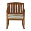Acacia Hardwood Rocking Chair with Cushion